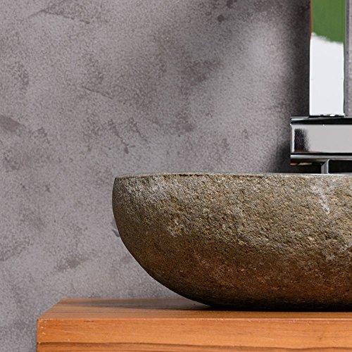 Waschbecken rund stein  WOHNFREUDEN Naturstein Waschbecken rund oval 30 cm ♥ Stein ...