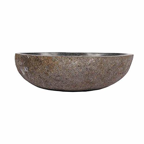 wohnfreuden naturstein waschbecken rund oval 30 cm stein aufsatzwaschbecken f 252 r g 228 ste wc bad
