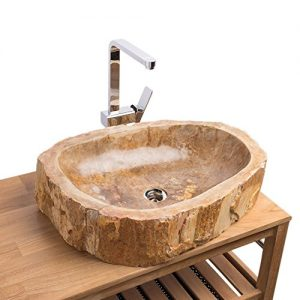 Holz Waschbecken , waschtisch holz , holz waschtisch mit natur stein