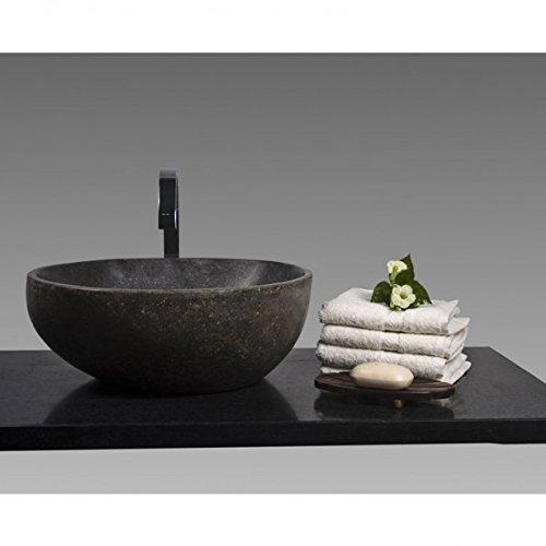 wohnfreuden n naturstein waschbecken 40 cm rund stein. Black Bedroom Furniture Sets. Home Design Ideas
