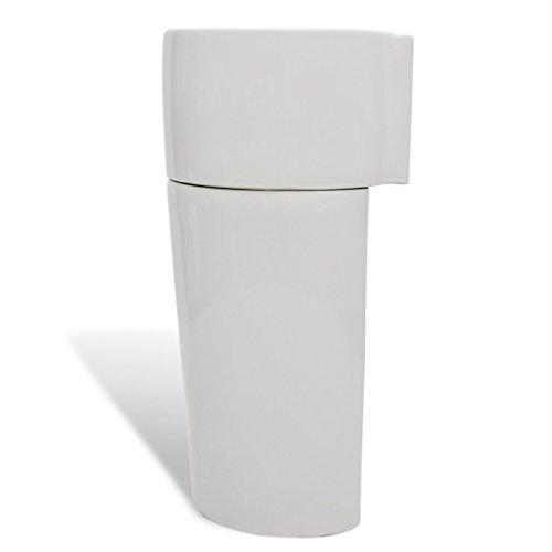 vidaxl keramikwaschbecken s ule bad standwaschbecken stand waschtischs ule wei schwarz. Black Bedroom Furniture Sets. Home Design Ideas