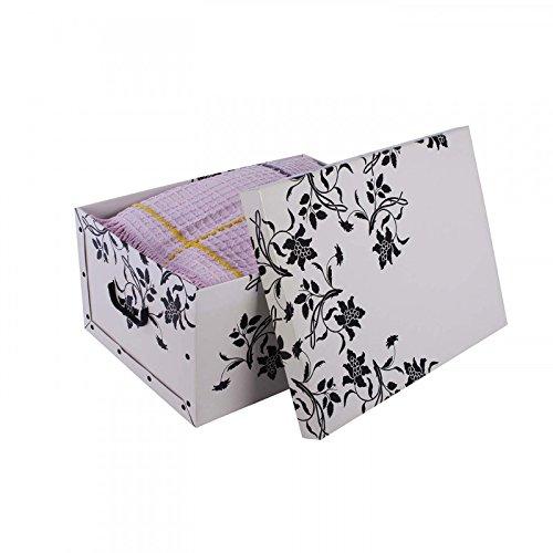 3 st ck deko karton der serie barock blumen in wei mit schwarzer blumenranke xxl volumen. Black Bedroom Furniture Sets. Home Design Ideas