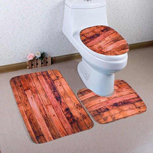 3 Stück Modische rutschfeste Badematten Set, 3 Stück ...