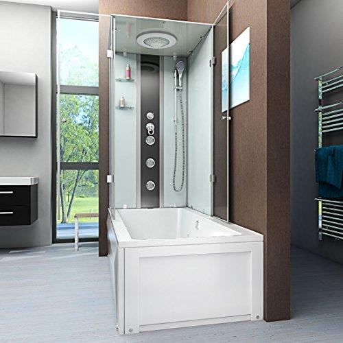 AcquaVapore DTP50-A000R Wanne Duschtempel Badewanne Dusche Duschkabine  90x180