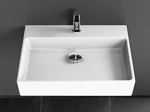 Aqua Bagno Solo Design Keramik Waschbecken 60 Cm Weiss