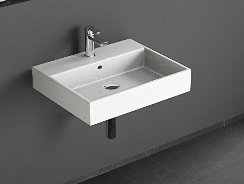 Waschbecken 60 Cm Eckig.Aqua Bagno Solo Design Keramik Waschbecken 60 Cm Weiß Aufsatzwaschtisch Eckig Gäste Wc Handwaschbecken Wandmontage