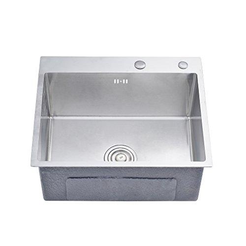 Auralum waschbecken sp lbecken handwaschbecken edelstahl for Waschbecken edelstahl