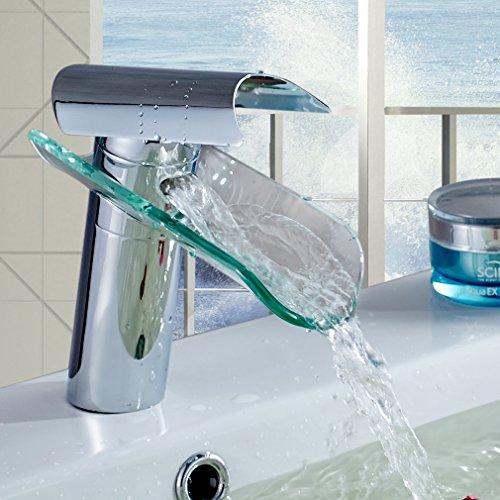 auralum wasserhahn glas sp le waschtisch waschtischarmatur armatur f r bad. Black Bedroom Furniture Sets. Home Design Ideas
