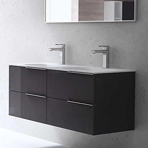 bth 120x48x47 cm design badm belset vanessa120 in grau hochglanz bestehend aus. Black Bedroom Furniture Sets. Home Design Ideas