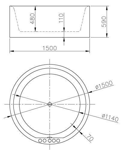badewanne rund idra 0 0. Black Bedroom Furniture Sets. Home Design Ideas