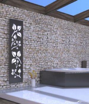 Wandheizkörper Badezimmer   Wandheizkörper dunkel grau