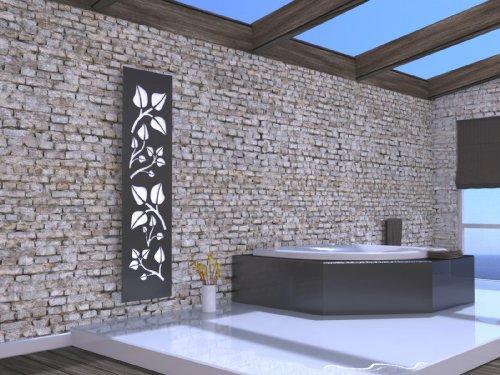 Wandheizkörper Badezimmer | Wandheizkörper  dunkel grau