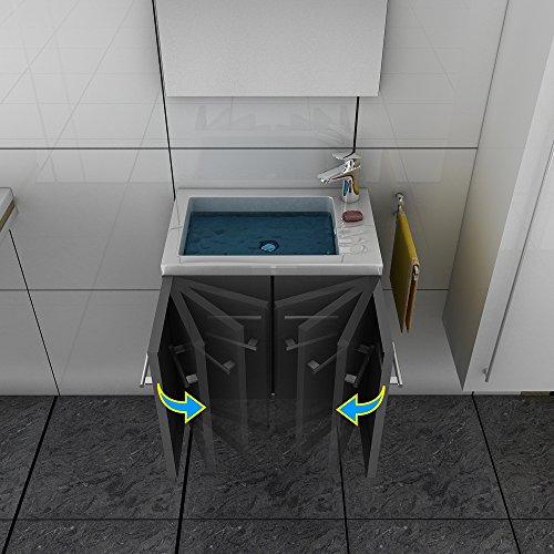 Badmobel Komplettset Mit Waschbecken Aus Mineralguss Unterschrank