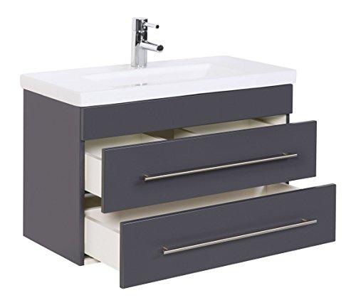 badm bel mars 800 slimline anthrazit seidenglanz. Black Bedroom Furniture Sets. Home Design Ideas