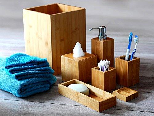 Badset Badezimmer Set Bambus Seifenspender Wc Garnitur MK Bamboo ...