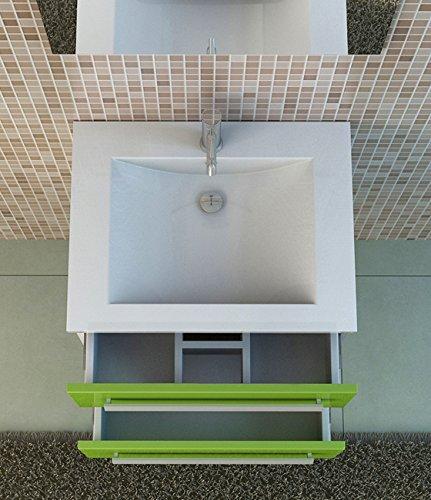 badset waschbecken badm bel arosa gr n bad moebel set von jet line. Black Bedroom Furniture Sets. Home Design Ideas