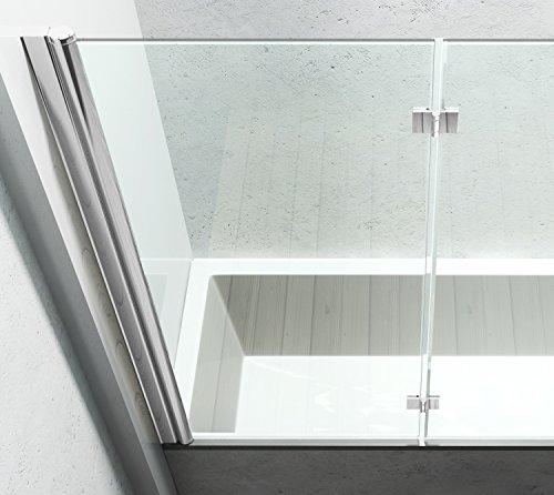 117x141 cm Duschabtrennung | Duschwand aus Glas |