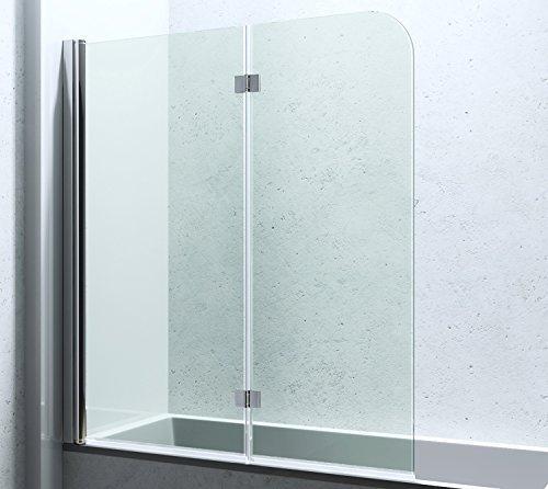 duschwand | 117x141 cm | Duschabtrennung | Badewannenfaltwand