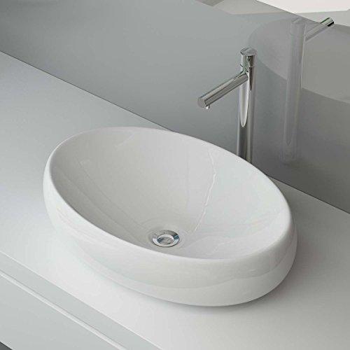 bxtxh 60x41x15 cm keramik aufsatzwaschbecken waschtisch waschschale waschplatz f r badezimmer. Black Bedroom Furniture Sets. Home Design Ideas