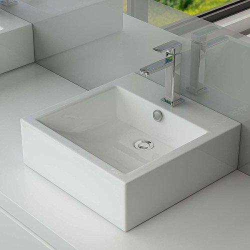 design keramik aufsatzwaschbecken waschtisch wandmontage f r badezimmer g ste wc a62. Black Bedroom Furniture Sets. Home Design Ideas
