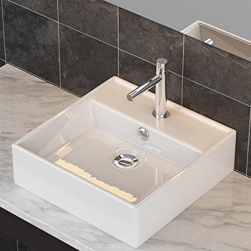 design keramik aufsatzwaschbecken waschtisch wandmontage f r badezimmer g ste wc a73. Black Bedroom Furniture Sets. Home Design Ideas