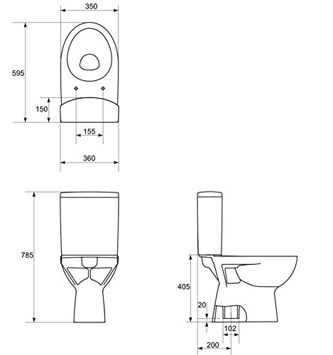 DOMINO KERAMIK STAND-WC-TOILETTE #81428 ABLAUF SENKRECHT