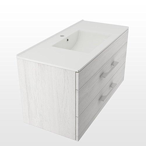 design badm bel unterschrank waschbecken 100 cm in der farbe grau hellgrau soft close. Black Bedroom Furniture Sets. Home Design Ideas
