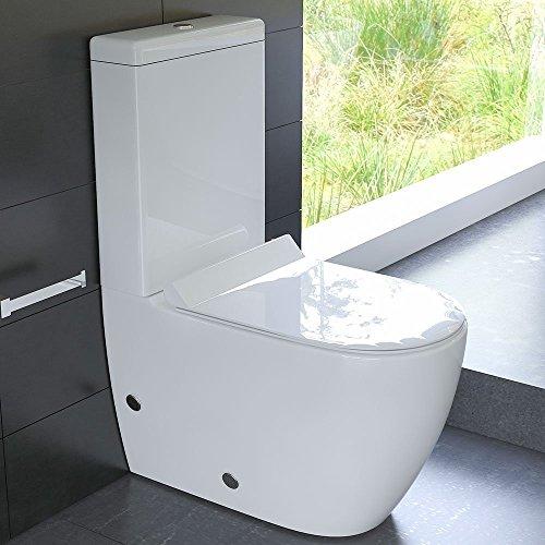 design stand wc aus keramik mit sp lkasten mit geberit sp lgarnitur und duroplast wc sitz mit. Black Bedroom Furniture Sets. Home Design Ideas