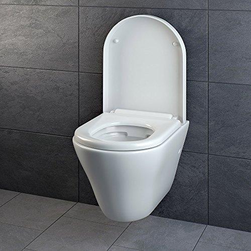 design wand h nge wc ohne sp lrand sp lrandlos toilette sitz softclose h ngend 5. Black Bedroom Furniture Sets. Home Design Ideas