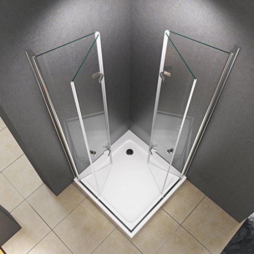 Beliebt Duschkabine Eckeinstieg Dusche Caroline 90 x 90 x 180cm / 8mm OV71