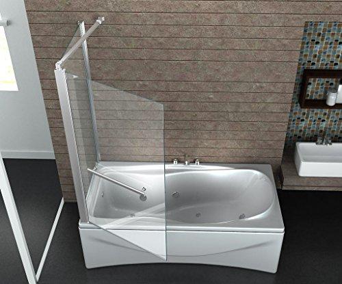 eck duschtrennwand uniono badewanne. Black Bedroom Furniture Sets. Home Design Ideas