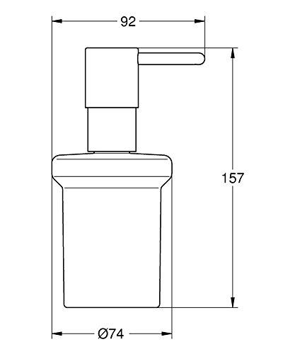 grohe essentials badaccessoires seifenspender chrom 40394001. Black Bedroom Furniture Sets. Home Design Ideas