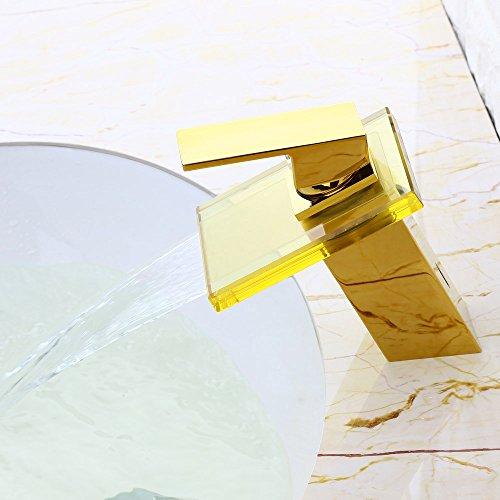 JiaYouJia Monobloc Glas Auslauf Einhebel Mischbatterie ...