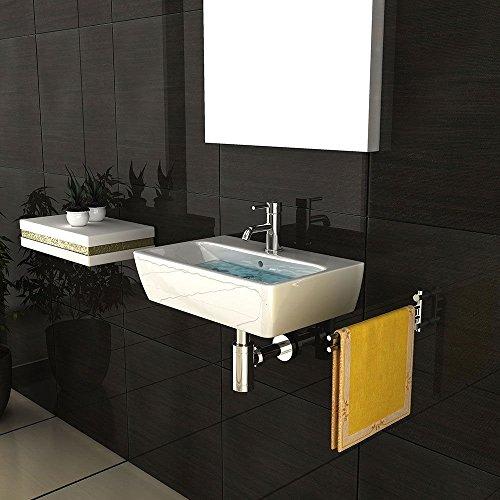 keramik waschbecken mit berlauf und nano beschichtung lotos effekt zur wandmontage. Black Bedroom Furniture Sets. Home Design Ideas
