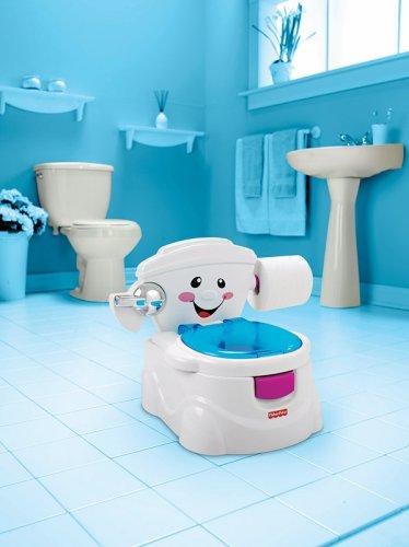 Fisher-Price P4326 Meine erste Toilette Töpfchen und Toilettensitz mit Musik und