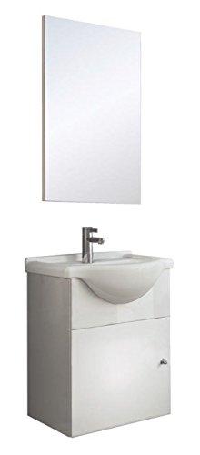 Mini Waschplatz 45cm Waschtisch Spiegel Schrank Soft Close Gaste Wc