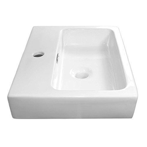 neg waschbecken uno66h eckig h nge waschschale waschtisch wei mit flachem rand und nano. Black Bedroom Furniture Sets. Home Design Ideas