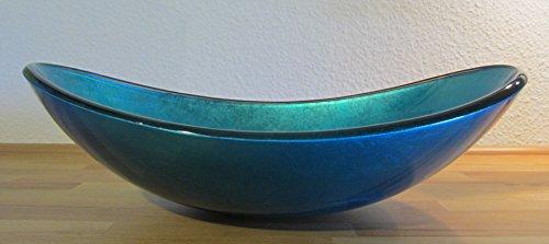 Waschbecken Blau nero aufsatz glas waschbecken blau oval » badezimmer1.de