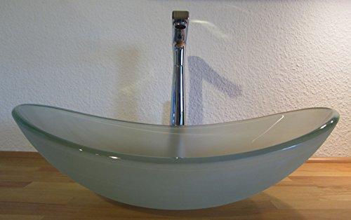 nero aufsatz glas waschbecken satiniert oval. Black Bedroom Furniture Sets. Home Design Ideas