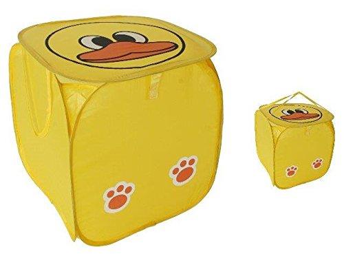 wäschebox für kinderzimmer | wäschekorb für kinder mit ente , gelbe wäschebox , gelber wäschekorb