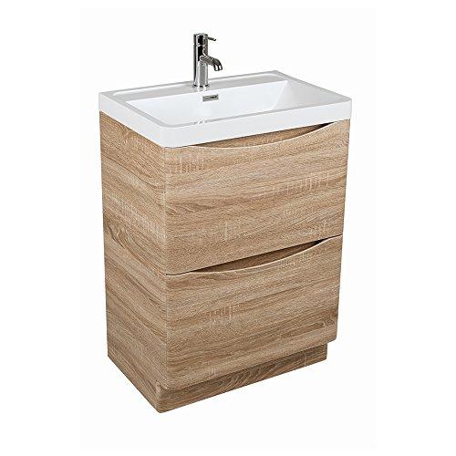 peace 600mm waschtischunterschrank mit waschbecken eiche. Black Bedroom Furniture Sets. Home Design Ideas