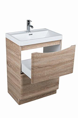 60 cm Waschbecken mit Unterschrank | Eiche Waschbecken mit Unterschrank