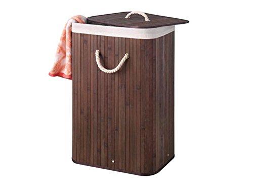 bambus wäschebox , wäschetrue braun , wäschekorb braun