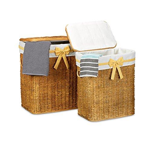 2er set. Wäschebox | 2 Wäschetrue  2 Wäschekorb | 67 liter wäschekorb | geflochteter Wäschekorb