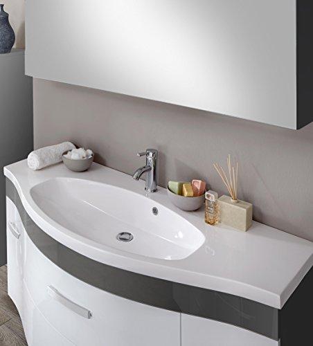 SAM® Design Badmöbel-Set Lugano Deluxe 2tlg, in weiß-grau, 130 cm ...