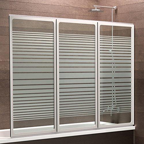 120x130 cm Duschwand für Badezimmer | Duschwand aus Glas