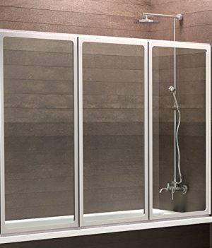 120x130 cm Duschwand | Duschabtrennung für Badewanne