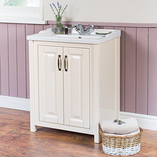 smooth ivory 600mm stand unterschrank mit waschbecken. Black Bedroom Furniture Sets. Home Design Ideas