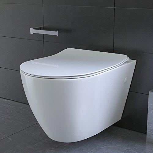 sp lrandloses h nge wc und nanobeschichtung aus sanit rkeramik mit duroplast wc sitz inkl soft. Black Bedroom Furniture Sets. Home Design Ideas