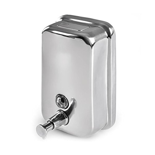 Vorcool Edelstahl Seifenspender Wandmontage 500ml Silber